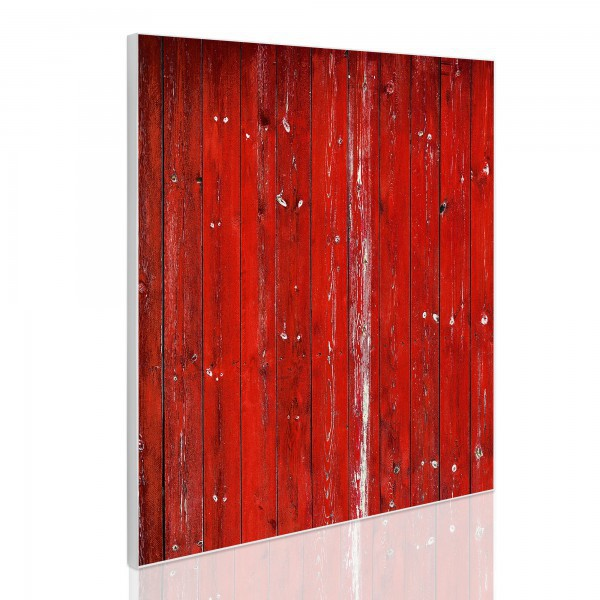 pinnwand magnettafel k che 50x50cm magnetwand mit motiv rote holzlatten pin wand ebay. Black Bedroom Furniture Sets. Home Design Ideas