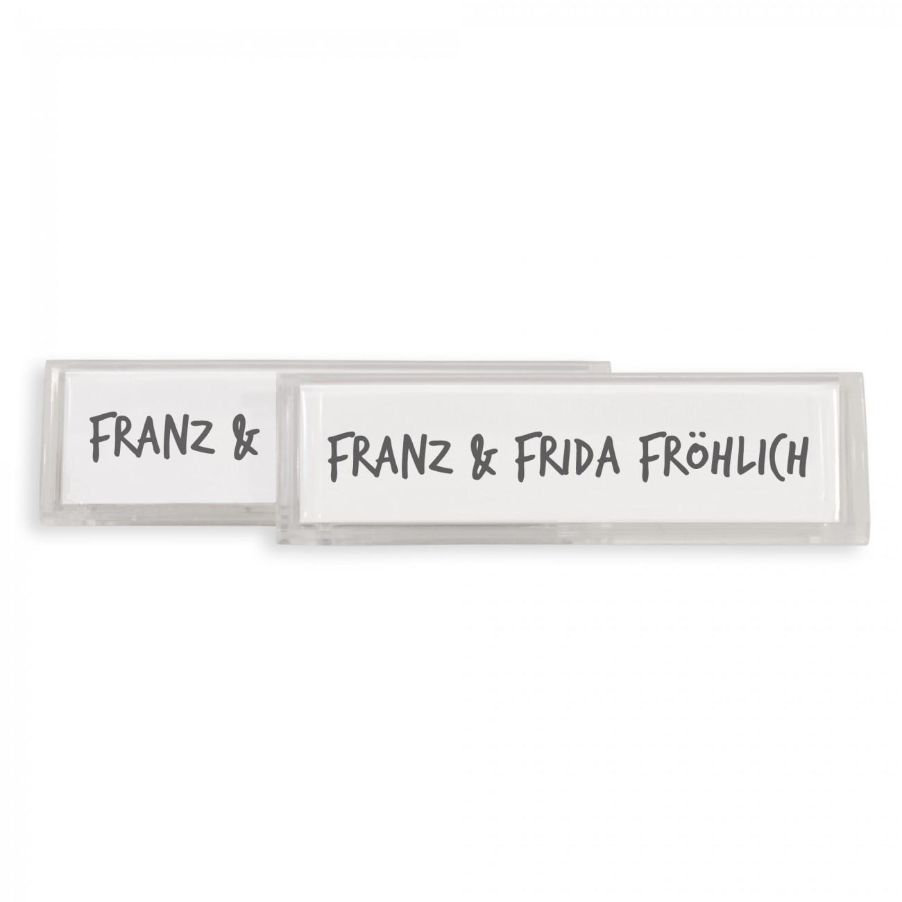 burg w chter namensschilder pvc bavaria mail nordland 74x22mm briefkastenschild. Black Bedroom Furniture Sets. Home Design Ideas