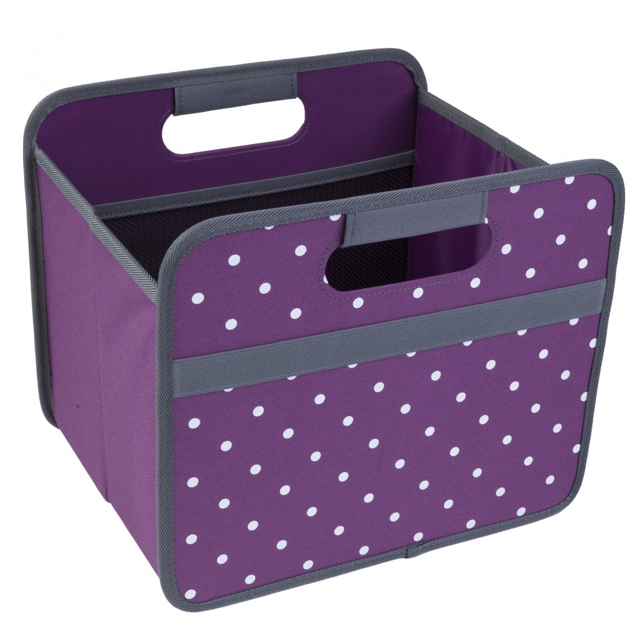 meori 15l box lila punkte faltbox transportkiste. Black Bedroom Furniture Sets. Home Design Ideas
